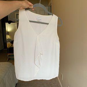 Calvin Klein white Silk Tank